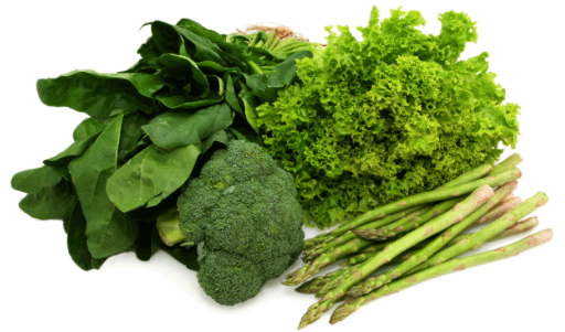 Green, Leafy Vegetables have Quercetin