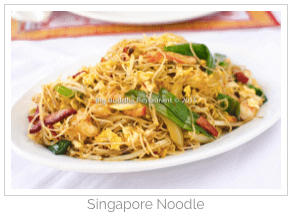 The Singapore Noodles at the Big Buddha were excellent