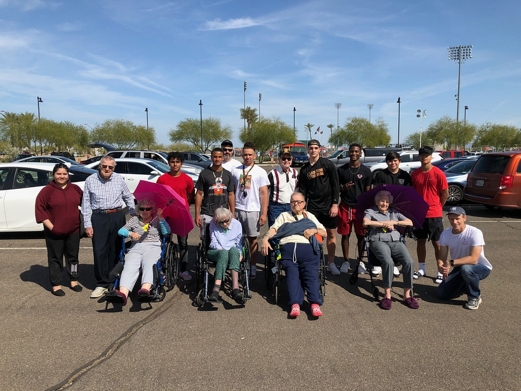 Our Surprise & Goodyear Assisted Living Residents and the Desert Edge Football Players