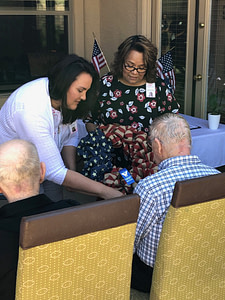 Hospice of the West performed a ceremony for our veterans