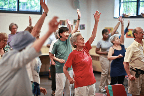 Exercise really helps elderly people