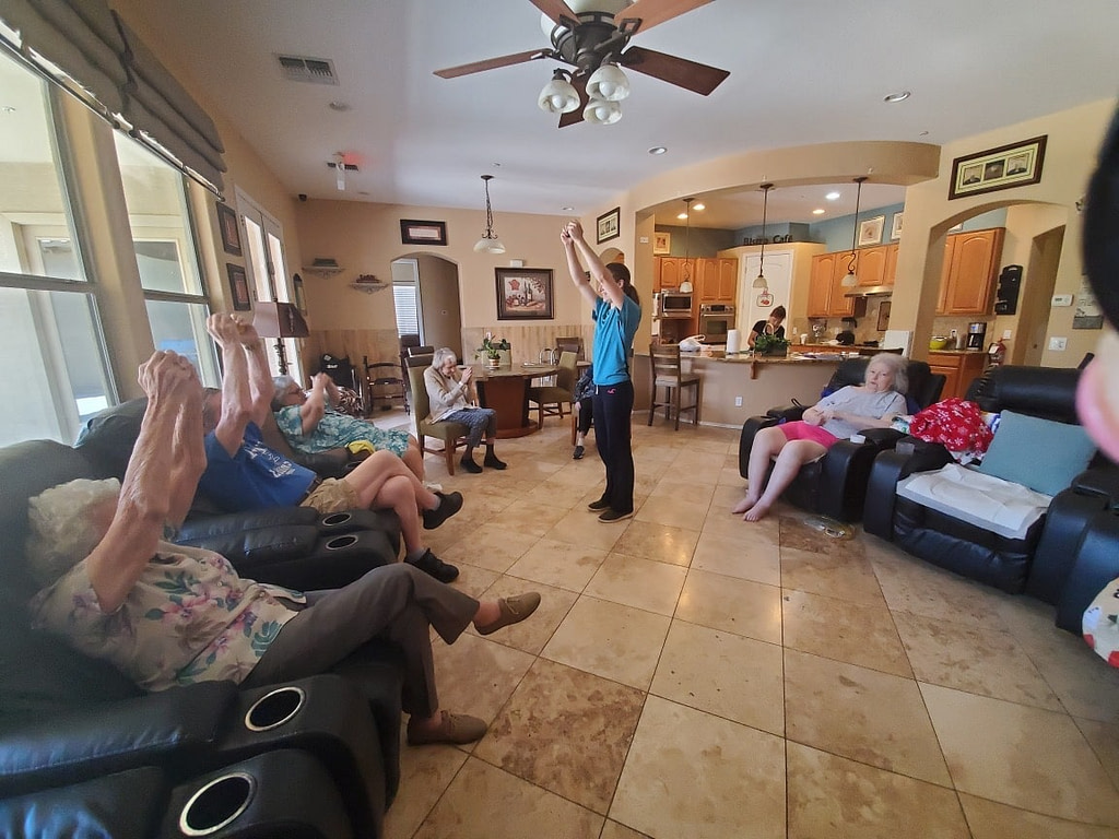 Exercise at our assisted living homes