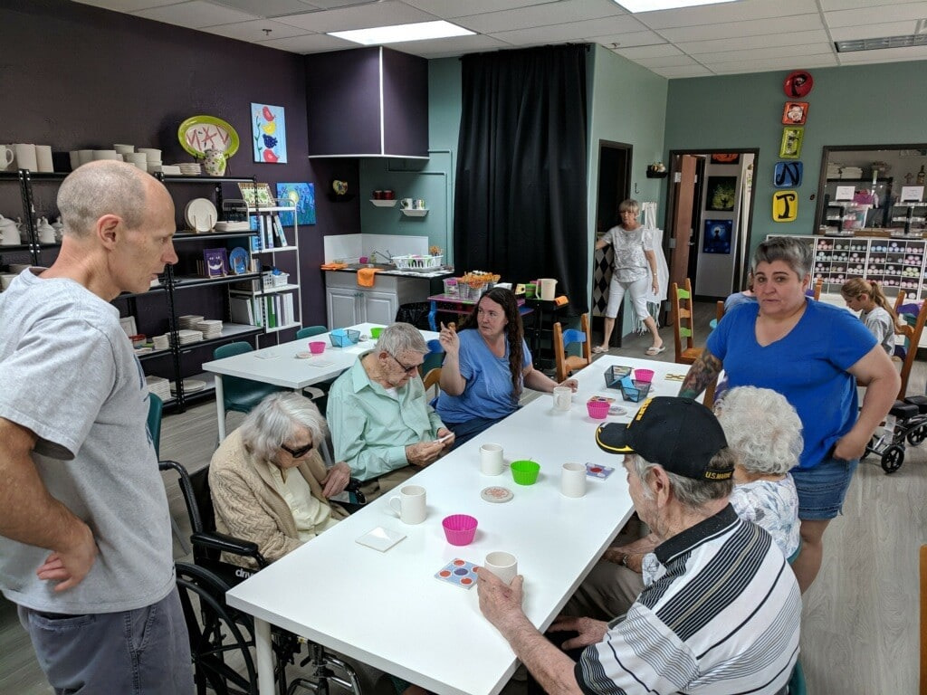 Our Goodyear and Surprise assisted living residents painted some great coffee mugs