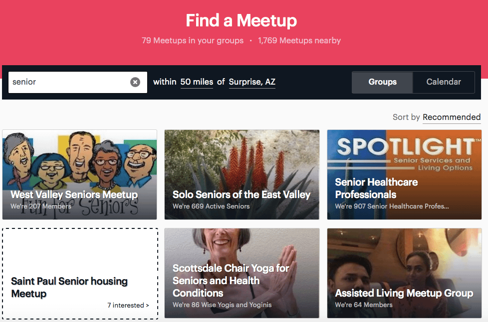 Avoid a nursing home with meetup groups