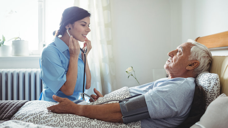 The differences between assisted living and skilled nursing include full-time nurses