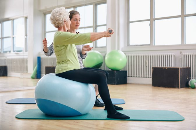 Strength training exercise for seniors can also improve balance