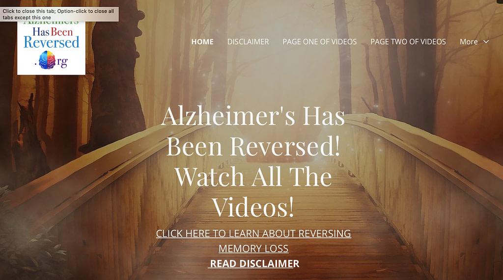 Slow Down Alzheimer's or Reverse it