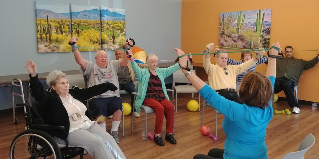Seniors exercise takes many forms