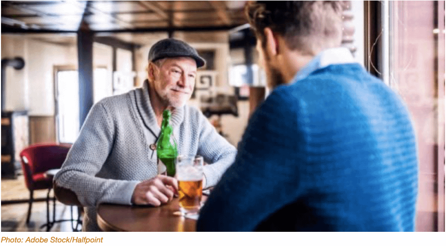 Hanging out at the pub may be good for Dementia