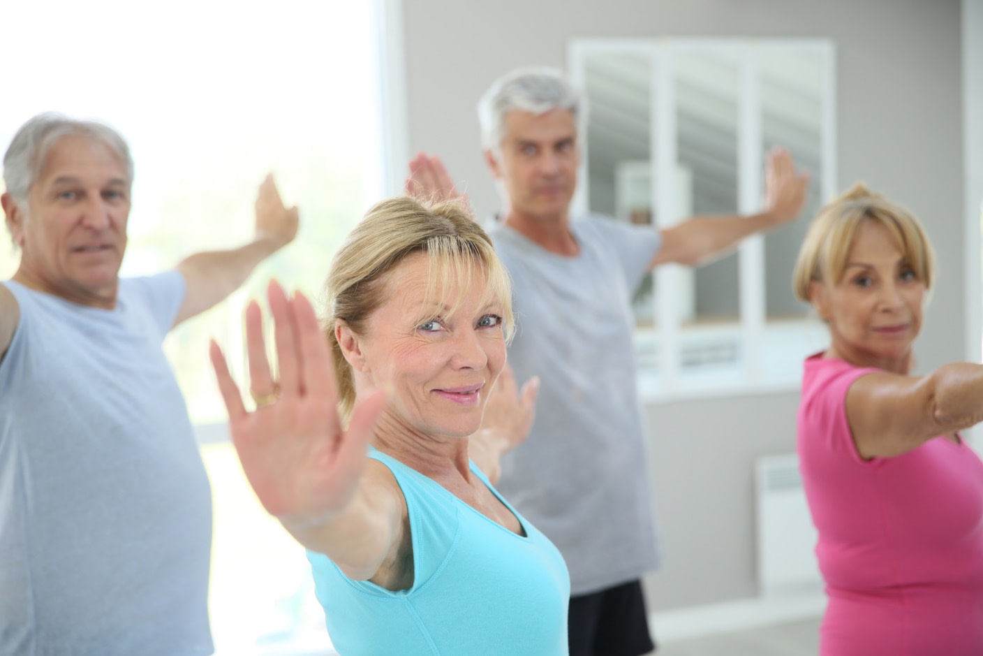 Exercise for seniors can be more fun when done in groups