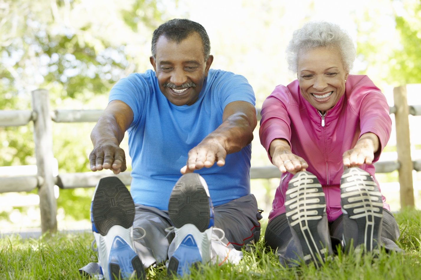 Don't forget to stretch before doing any exercises for seniors