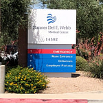 Banner Del Webb Hospital is the main medical center around Surprise