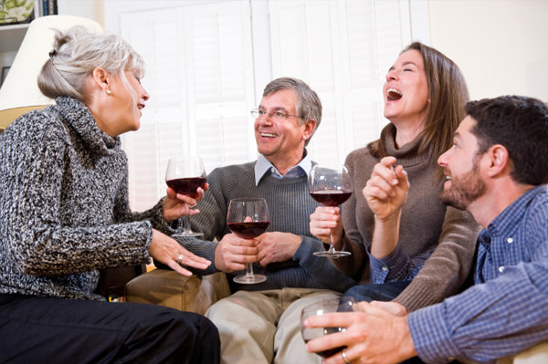 Laughing helps resolve family conflicts