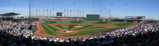A beautiful stadium to watch a Spring Training game