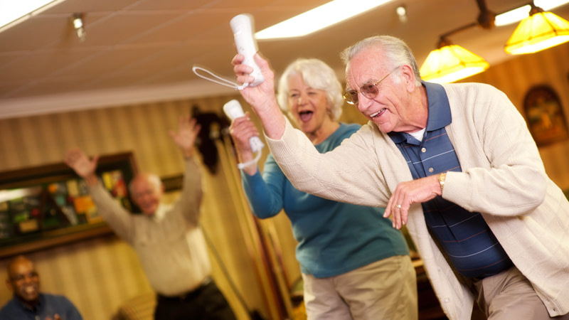 Assisted Living Helps Seniors have fun together