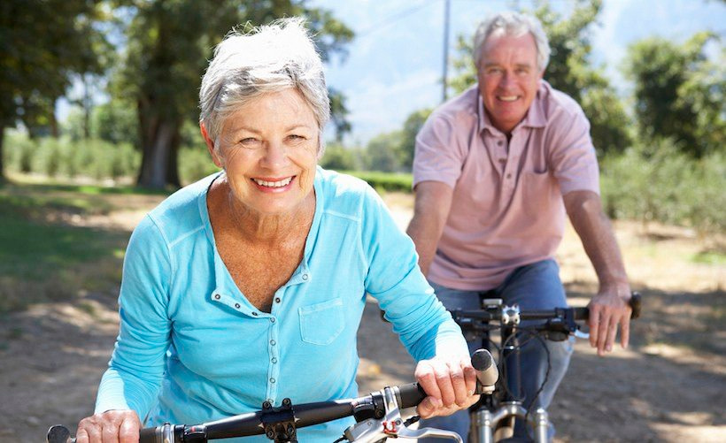 Peforming cardio and endurance exercises for seniors outside can brighten your day