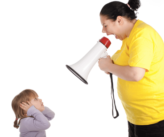 Yelling at your kids may trigger Intermittent Explosive Disorder in them.
